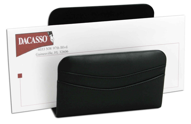 Dacasso Classic Black Leather Letter Holder