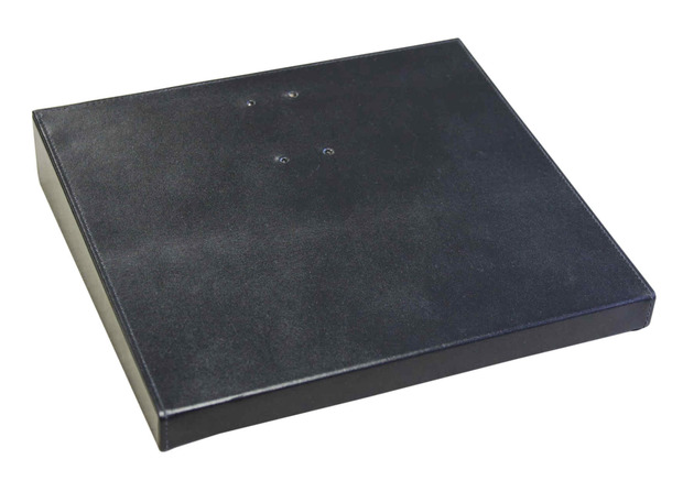 "Dacasso Classic Black Leather 4.5"" x 8"" Calendar Holder Base"
