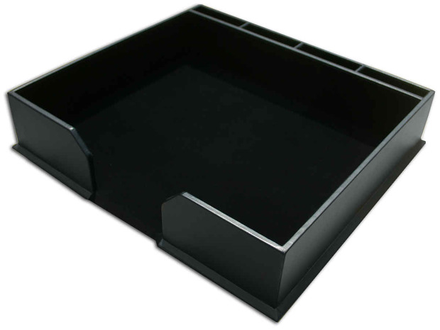 Dacasso Black Bonded Leather Conference Pad Holder