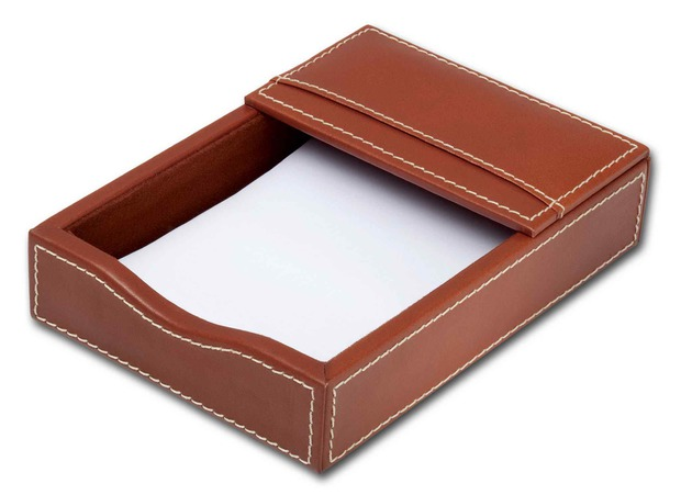 "Dacasso Rustic Brown Leather 4"" x 6"" Memo Holder"