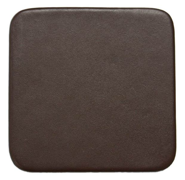 "Dacasso Chocolate Brown Leather 4"" Square Coaster"