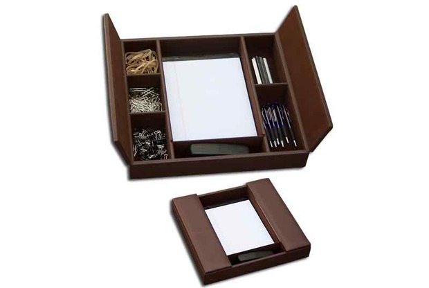 Dacasso Chocolate Brown Enhanced Conference Room Organizer