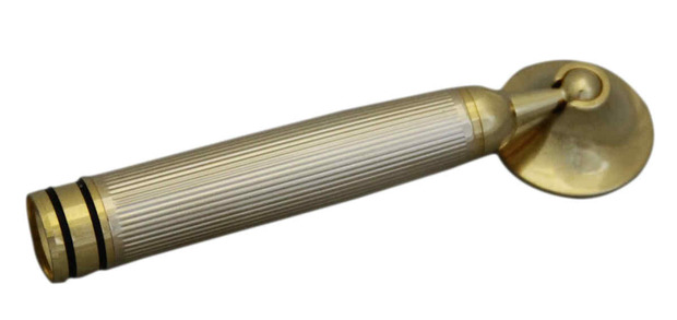 Dacasso Gold Ribbed Pen Funnel with Screw