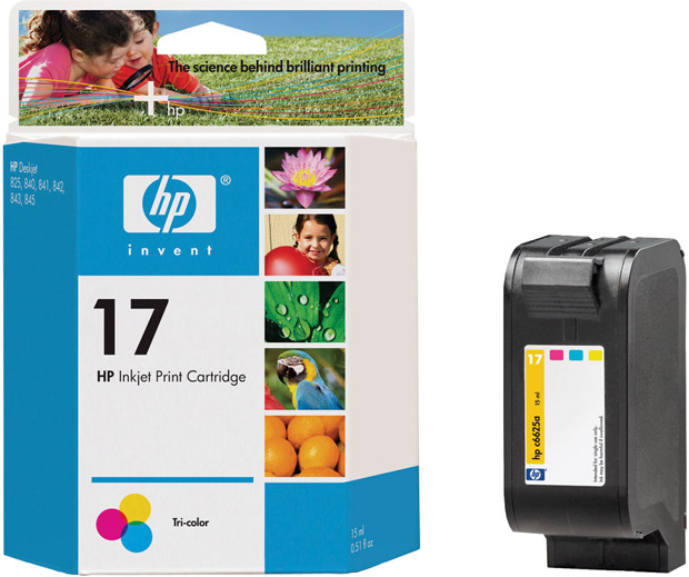 Hewlett-Packard Deskjet 840C 1-#17 Standard Tri Color Ink