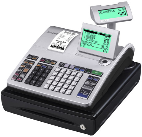 Casio PCR-T500 Thermal Cash Register: 200 Dept