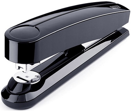 Dahle B5FC 50 Sheet Novus Flat Clinch Stapler: Black