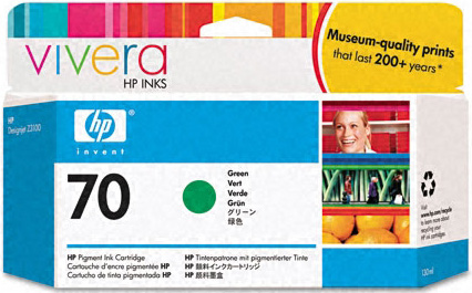 HP Designjet Z3100 1-#70 Standard Green Ink