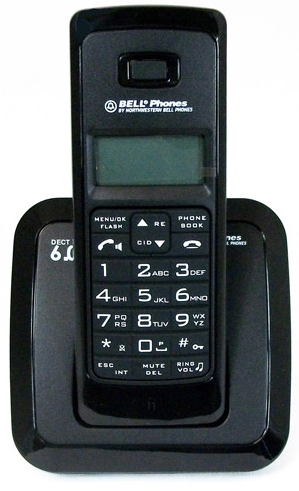 Northwest Bell 31331 DECT Black DECT 6.0 Basic/LCD/CID