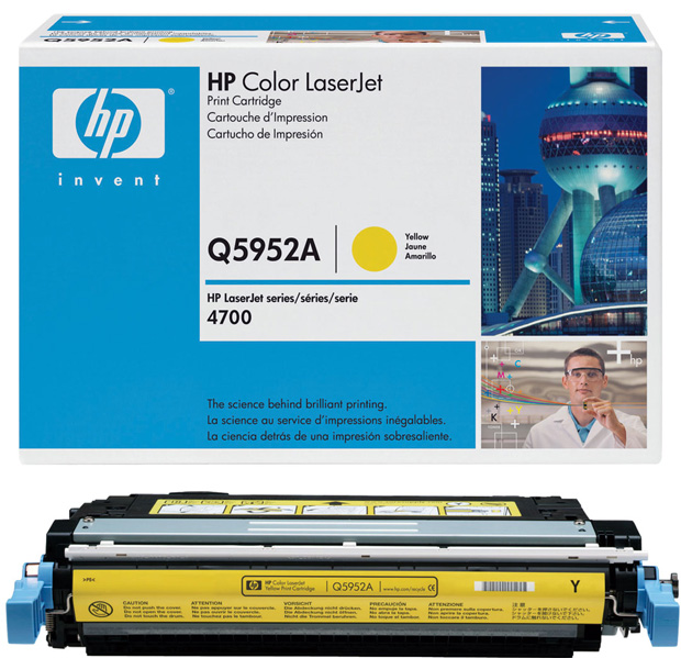 Hewlett-Packard Color Laserjet 4700 1-643A Standard Yellow Toner