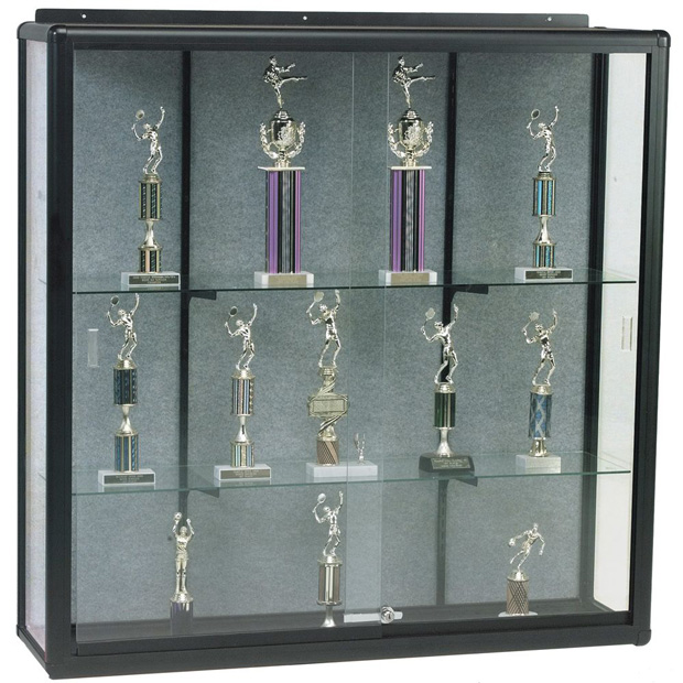 "Best-Rite Wall Mount Display Case: 4'H x 4'W x 14""D"