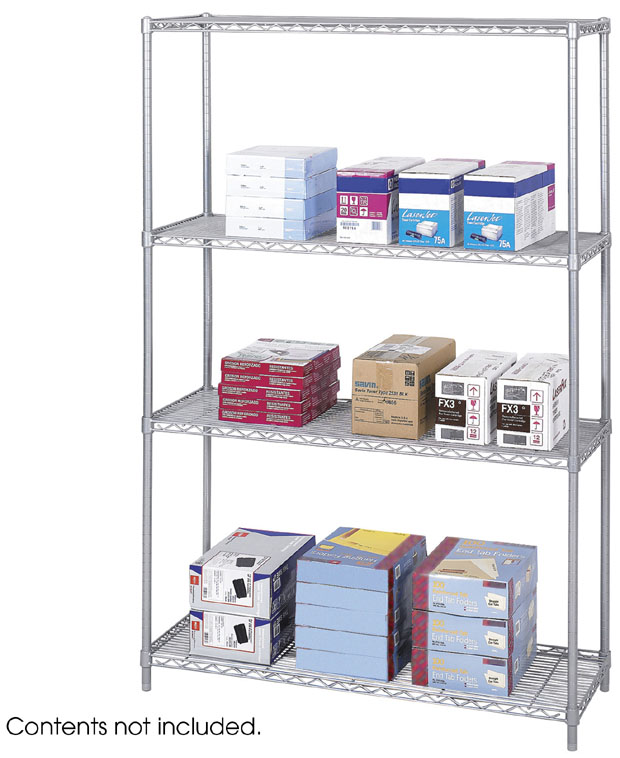 "Safco Industrial Wire Shelving: Gray, 48"" x 18"""
