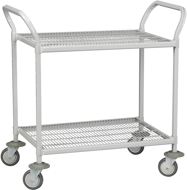 "Tennsco Logic Epoxy 2 Shelves Hand Cart: 42"" x 24"" x 42"""