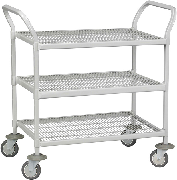 "Tennsco Logic Epoxy 3 Shelves Hand Cart: 60"" x 24"" x 42"""